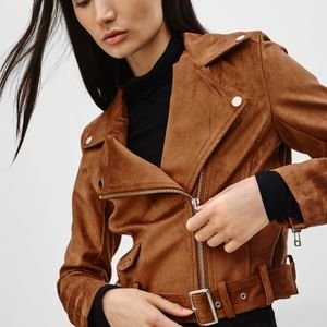 Aritzia Talula Suede Moto Jacket